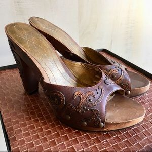 Nine West Wooden Mule